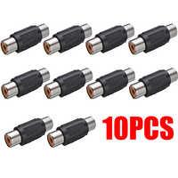 10 piezas RCA hembra a RCA hembra Audio Video Cable Jack enchufe acoplador adaptador estéreo Audio conector