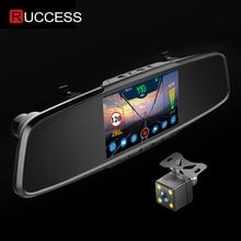 Зеркало заднего вида Ruccess 3 в 1, зеркало с детектором радара и камерой с цифровой видеозаписью Full HD 1080P, обнаружитель авто, антирадар с GPS для России