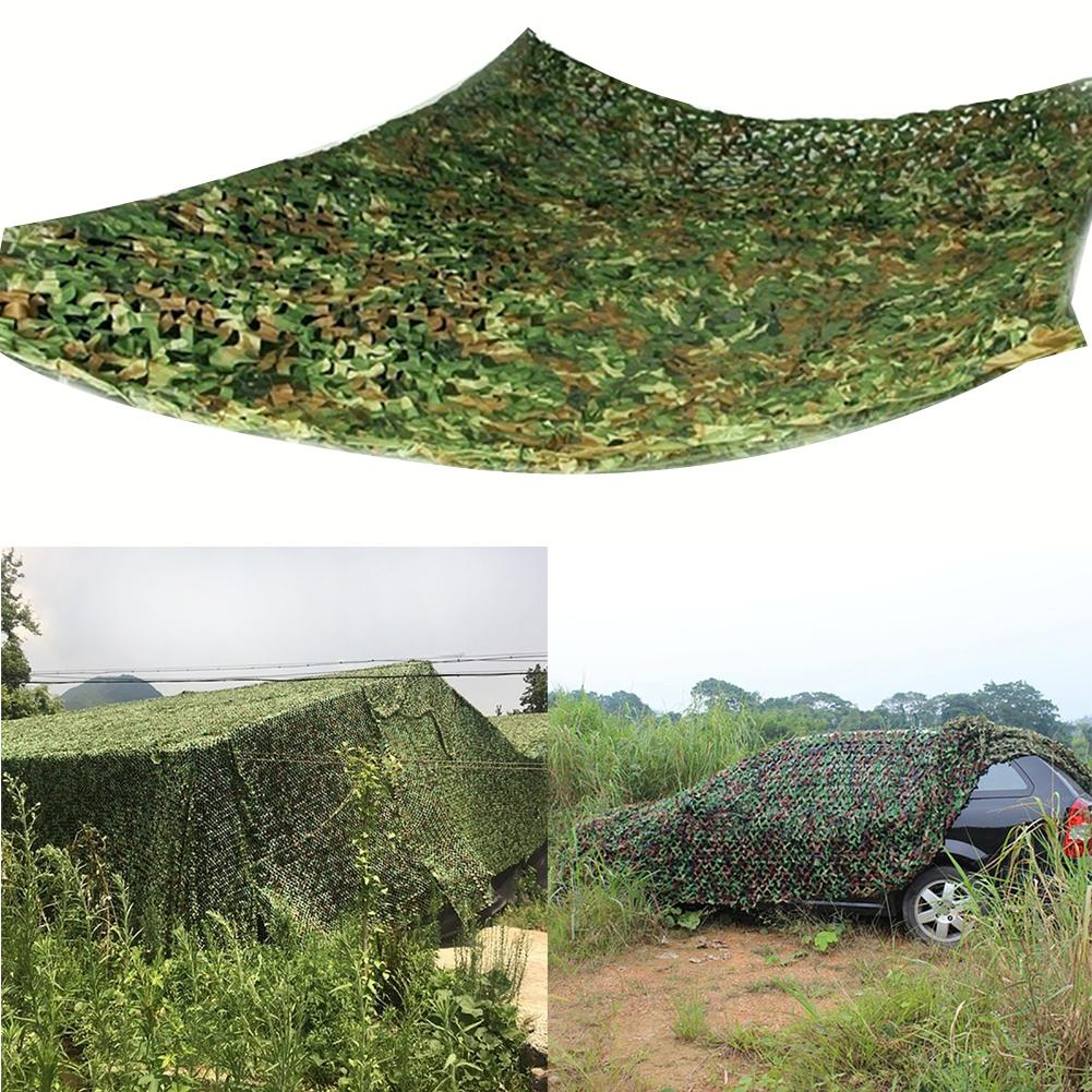 <font><b>Outdoor</b></font> Hunting Camouflage Woodland Jungle Camo Tarp Cover <font><b>Car</b></font> Sun Shelter Net Camping Net 3mx3m /3mx4m /4mx5m For Sedan SUV MPV image