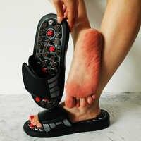 Acupoint massagem chinelos sandália para os pés dos homens chinês terapia de acupressão médica rotativa pé massageador sapatos unisex