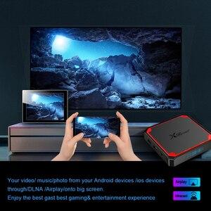 Image 4 - 2021 X96 Mini Plus TV Box Android 9.0 Amlogic S905W4 Quad Core A53 Dual Wifi H.265 4K 30fps supporto Google Voice Youtube X96Mini