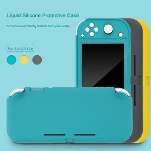 Image 2 - 닌텐도 스위치 라이트에 대한 액체 실리콘 보호 케이스 색상 닌텐도 스위치 라이트에 대한 귀여운 커버 쉘 콘솔 쉘 Accessorie