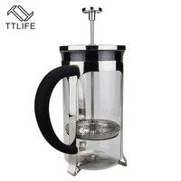 Cafetera de acero inoxidable TTLIFE de 0 35 l/0 6 l con filtro de vidrio borosilicato|Cafeteras| |  -