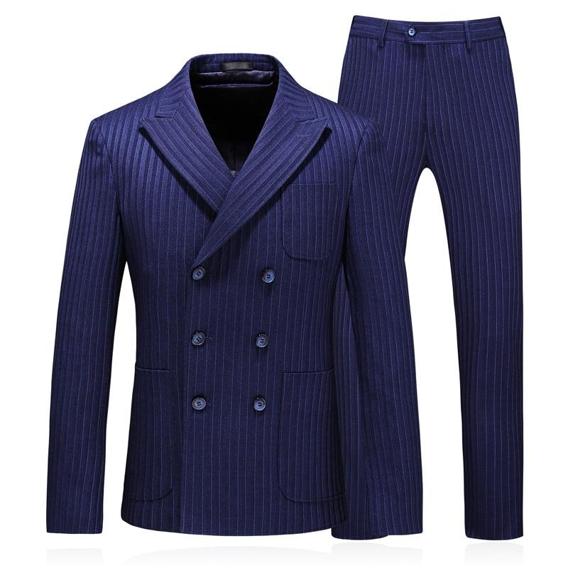 Classic Men Formal Suits , Business Banquet Suit Jacket + Vest Pants Size S-5XL Plaid High Quality 3 Pcs