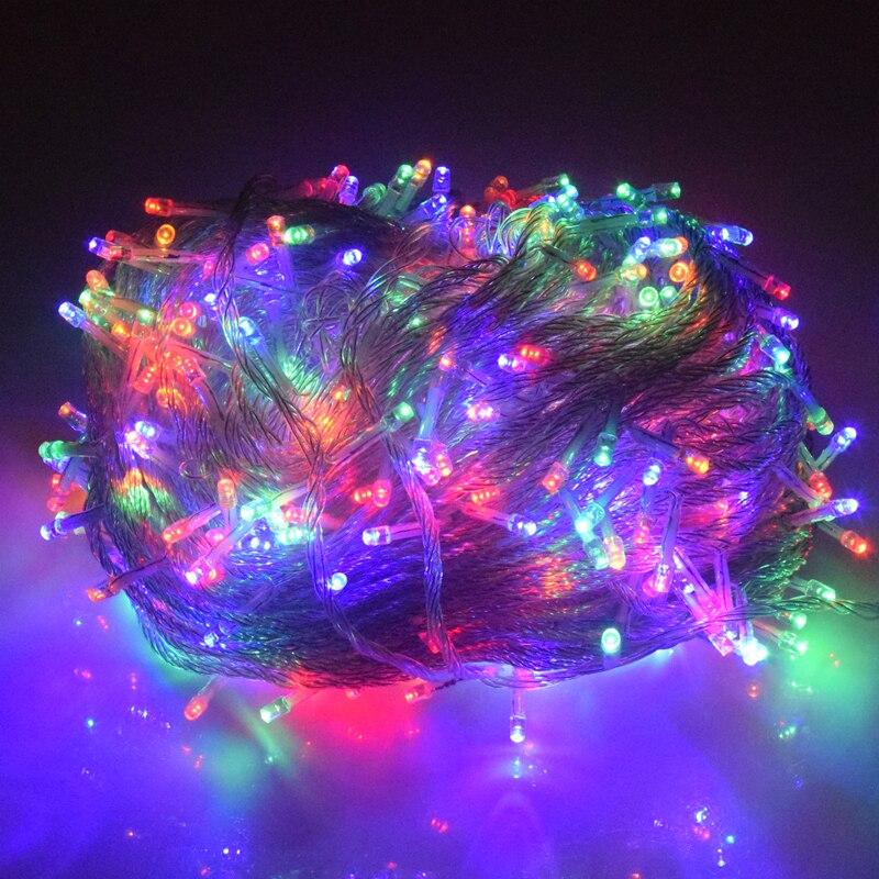 O Feriado Conduziu Luzes De Natal Ao Ar Livre 100 M 50 M 30 M 20 M 10 M Conduziu Luzes Da Corda Decoração Para A Festa De Casamento Do Feriado Guirlanda