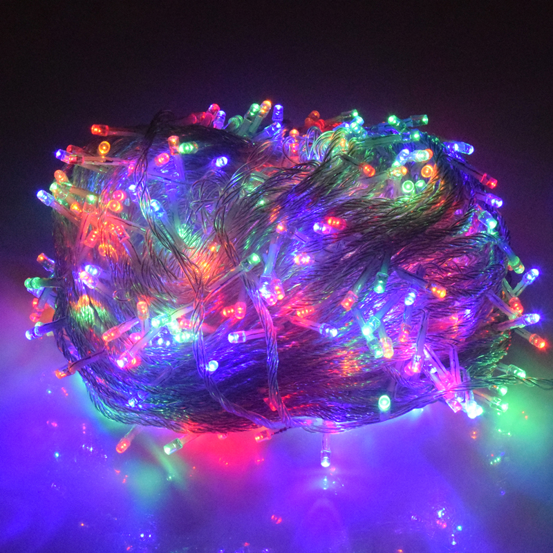 Holiday Led Christmas Lights Outdoor 100M 50M 30M 20M 10M Led String Lights Decoration For Party Holiday Wedding Garland