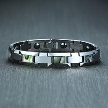 Классический вольфрамовый мужской браслет магнитный женский