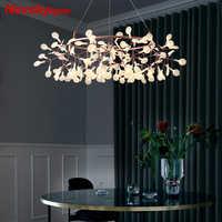 Moderne Led kronleuchter Beleuchtung Rosa goldene lampe Nordic Acryl Zweige für Esszimmer Designer Industrie Hängenden Lampen esszimmer