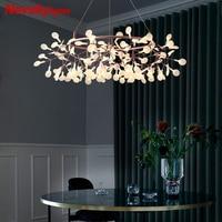 Modern Led chandelier Lighting living Rosa gold lamp Nordic branches lights dining designer Industrial Firefly simple chandelier