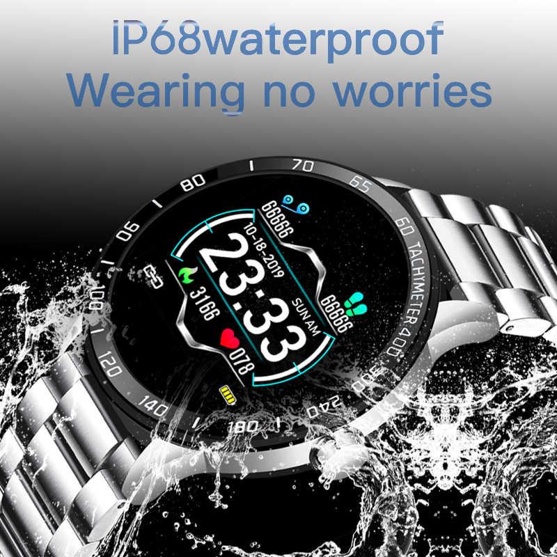 LIGE 2020 جديد الصلب ساعة ذكية الرجال ساعة ذكية الرياضة آيفون معدل ضربات القلب ضغط الدم اللياقة البدنية المقتفي الإبداعية smartwatch