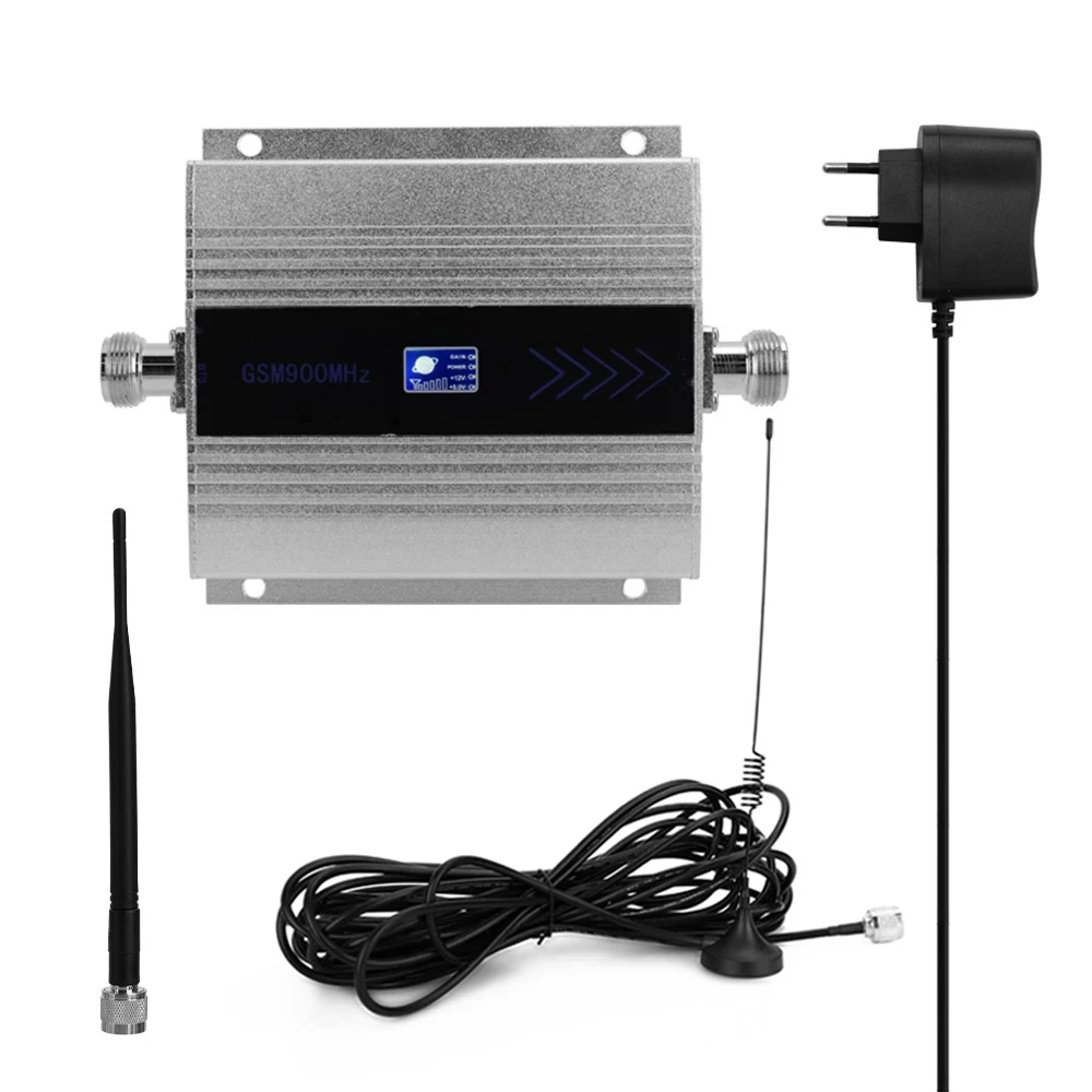 LCD GSM 900MHz Mobile Phone Signal Booster Cell Phone Signal Repeater Signal Amplifier Extender Set With Sucker Antenna