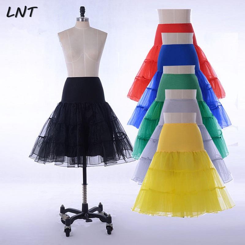 Short Knee Length Petticoat Crinoline For Dress Wedding Bridal Underskirt Rockabilly Tutu Skirt