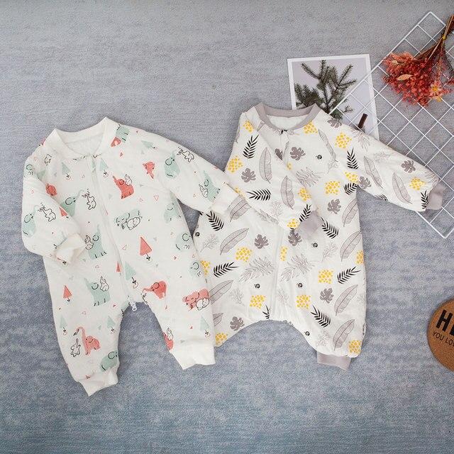 طفل كيس النوم النقل كيس لحديثي الولادة طفل الحيوان نمط سرير أطفال تلعب انقسام الساق الشتاء مكافحة Tipi النوم أكياس دافئة
