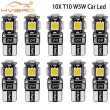 цена на 10pcs/lot T10 5 smd 5050 led Canbus Error Free Car Lights W5W 194 5SMD Error Free White LIGHT BULBS Change car-styling