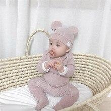 MILANCEL одежда для сна для малышей; хлопковый детский спальный костюм; Комплект для сна в горошек с шапочкой; детская одежда для сна
