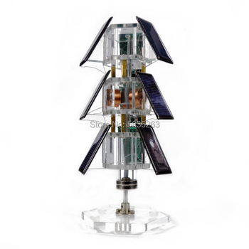 DIY Tree Type Vertical Solar Magnetic Levitation Motor Mendocino Scientific Experiment Toys Creative Gifts