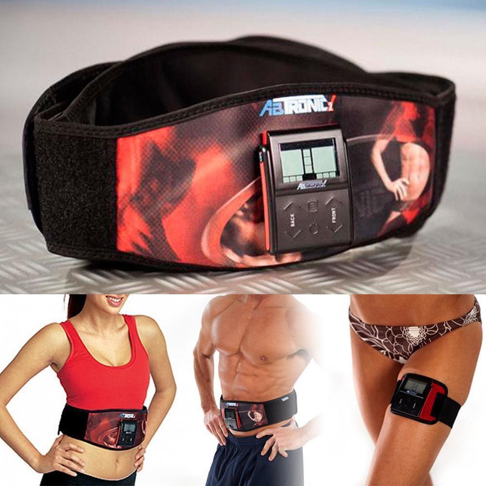 Ab Gym Belt Electronic Abdominal Fitness Tronic Fat Burning Work Out Program