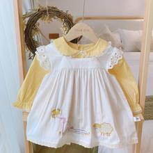 Осенние детские платья в испанском стиле из 2 предметов желтое платье для девочек с вышивкой животных и белым жилетом испанское платье с дли...
