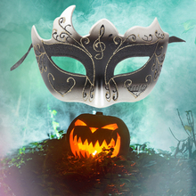 Half Face Carnival Halloween Musical Party Mask Venice show Flame Crack mask Male Female Decor accessories New