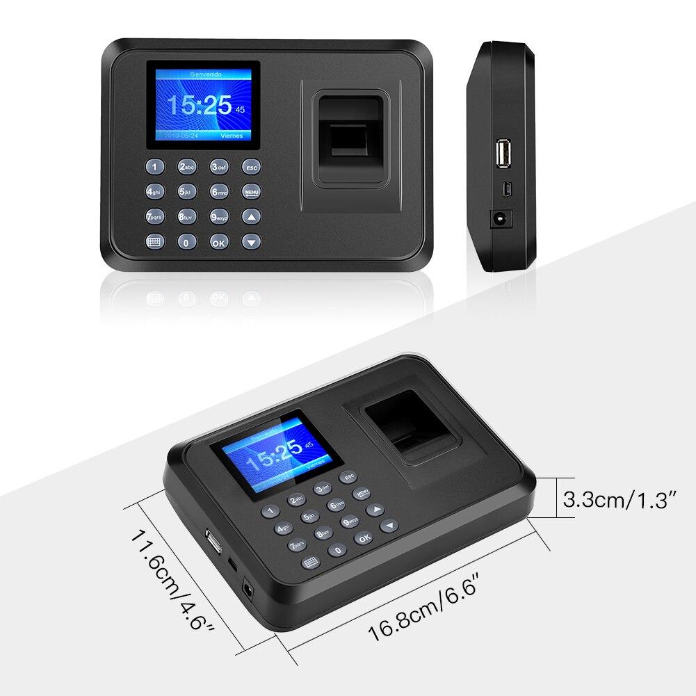Máquina do comparecimento da impressão digital biométrico