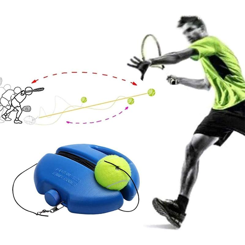 Купить с кэшбэком Tennis Training Devices(1 Base +3 Balls) Exercise Tennis Ball Sport Self-study Tennis Balls With Tennis Trainer Baseboard