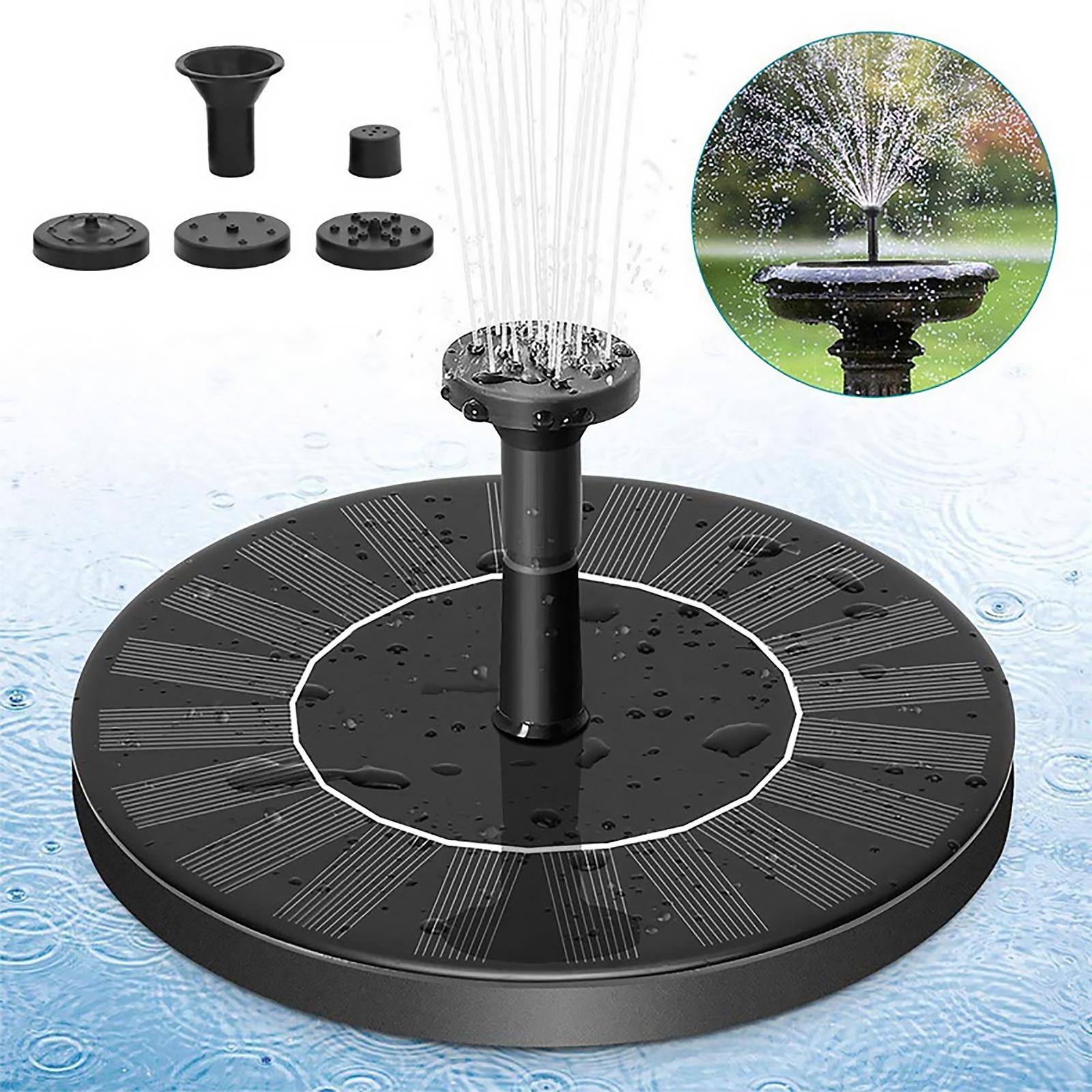 Модернизированный Солнечный водяной фонтан водопад фонтана птиц ванная фонтан свободностоящая водяной насос садовый декор solaire фонтан #9