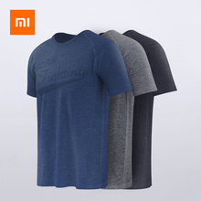 Xiaomi пот поглощающий свет дышащая, с коротким рукавом спортивные удобные спортивные футболки анти-бактерии для мужчин летний топ