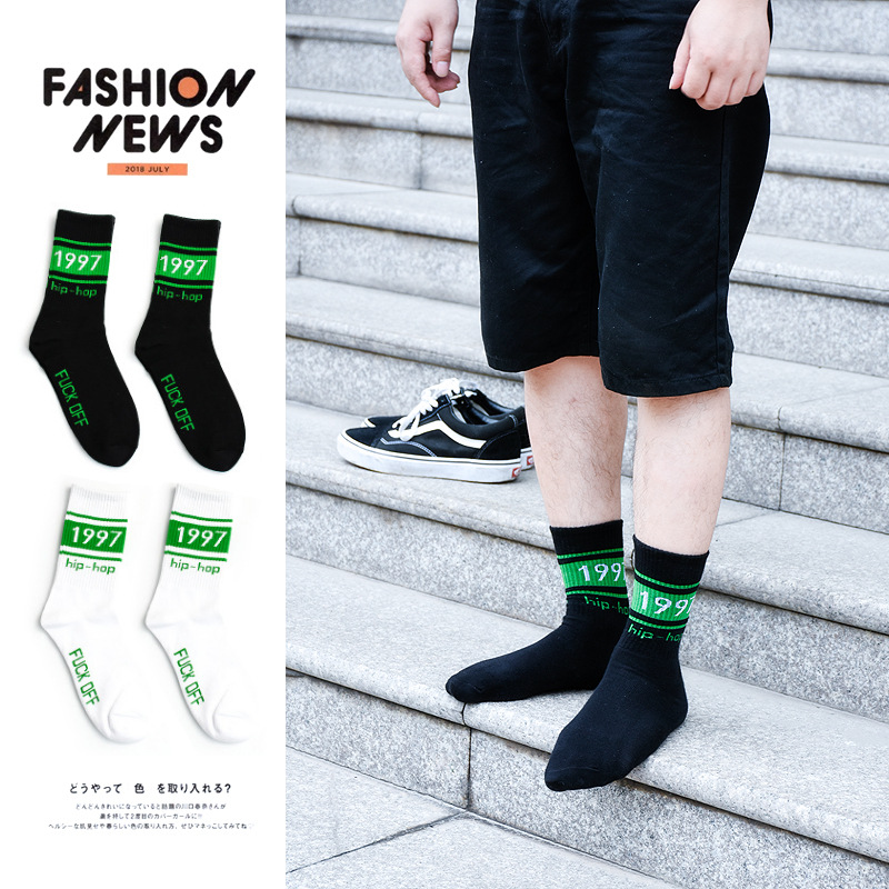 Harajuku Brand New Hip Hop Streetwear Ankle Crew Socks Skateboard Fashion Kanye West GG Socks Gift For Men Cotton Off White Sox