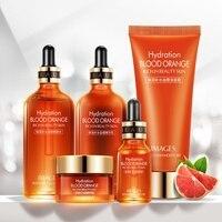 Blood Orange Skin Care Set Moisturizing Nourishing Smooth Fine Lines Anti wrinkle Anti aging Face Serum Suit