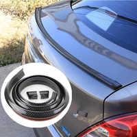 1.5M Car-Styling 5D Carbon Fiber Spoilers DIY Refit Spoiler For Hyundai IX35 IX45 Sonata Verna Solaris Elantra Tucson Mistra