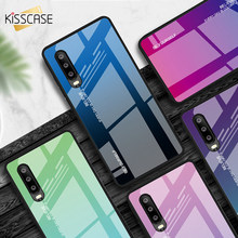 KISSCASE Phone Case For Huawei P30 Lite P30 Pro P20 Lite P20 Pro Gradient Tempered Glass Case For Huawei Honor 10 Lite 9 Lite 8X(China)