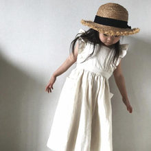 New 2021 Casual Baby Kids Girl Pure Color Princess Dresses For Girls Dresses Summer Kids Girl Dress Sleeveless Lace Dress