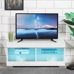39 Inch M Size TV Cabinet with LED Light TV Stand Living Room Furniture High Gloss TV Unit Console Home Furnishings US Shipping