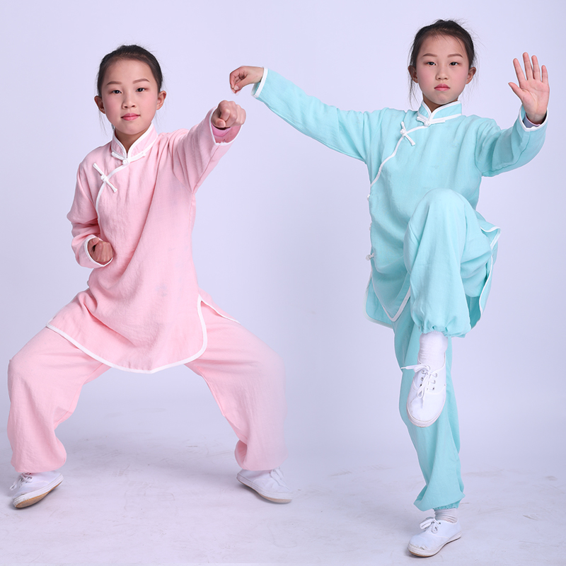 2019 Children Chinese Traditional Wushu Uniform Martial Arts Sets Tai Chi Uniform Chinese Kung Fu Clothing For Boy Girl Kids