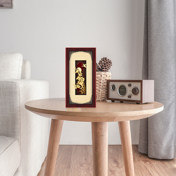 3D Chinese Traditional Painting Gold Plant Framed pictures 24K Gold Leaf Painting Art Wall picture Luxury Crafts Home decor Gift
