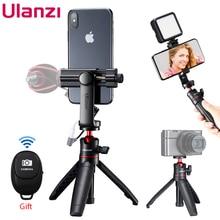 ULANZI Mini Vlog Tripod Extendable Selfie Stick Tripod Mount Cold Shoe With Remote Controller for iPhone Smartphone DSLR Camera