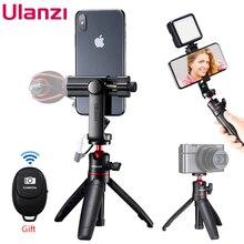 ULANZI حامل ثلاثي القوائم صغير Vlog قابل للتمديد للصور الذاتية ، حامل ثلاثي ، حذاء بارد مع جهاز تحكم عن بعد لهاتف iPhone الذكي ، كاميرا DSLR