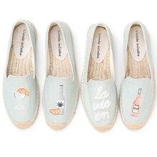 2020 최고 패션 특별 행사 플랫 플랫폼 데님 Sapatos Zapatillas Mujer 캐주얼 Tienda Sloludos Espadrilles For Shoes Flats