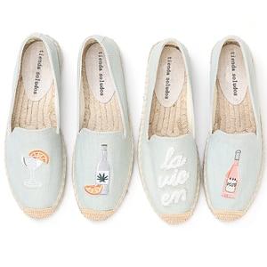 Image 1 - 2020 Top Fashion Special Offer Flat Platform Denim Sapatos Zapatillas Mujer Casual Tienda Sloludos Espadrilles For Shoes Flats