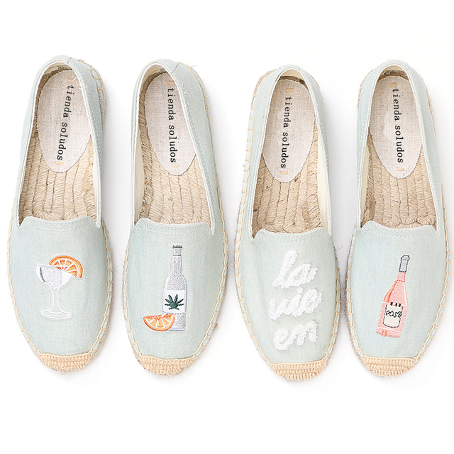 2020 Top Fashion Special Offer Flat Platform Denim Sapatos Zapatillas Mujer Casual Tienda Sloludos Espadrilles For Shoes Flats