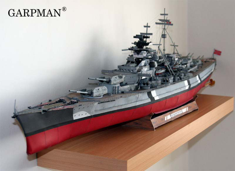 1/200 1/280 World War II Germany Bismarck GPM182 Complete Version Paper Model