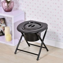Chaise de pot pliable en acier inoxydable, chevet, salle de bain, toilettes, siège de Commode, pot de douche