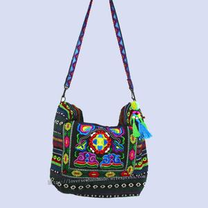 Image 5 - Tribal Vintage Hmong Thai Indian Ethnic Embroidery Bohemian Boho rucksack shoulder hippie ethnic bag backpack bag L size SYS 567