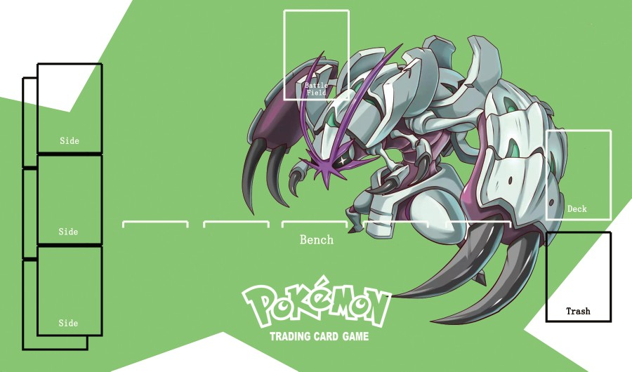 Takara Tomy PTCG Accessories Pokemon Card Game Table Playmat Golisopod Toys For Children