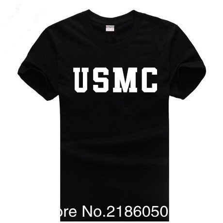 Summer US Army Navy Air Force USAF Marines <font><b>USMC</b></font> Military Physical PT <font><b>T</b></font> <font><b>Shirt</b></font> Men Funny O Neck Print Cotton Casual <font><b>Shirts</b></font> Tops image