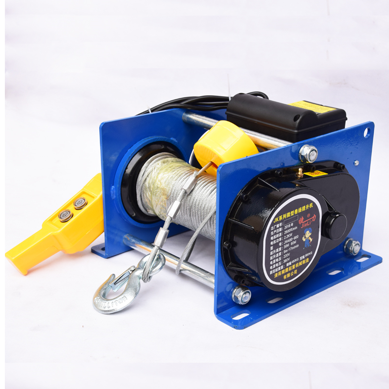 500-1000KG 100M 220/380V Small Wire Rope Hoist Mini Electric Hoist Small Hoist For Decoration Of Household Buildings