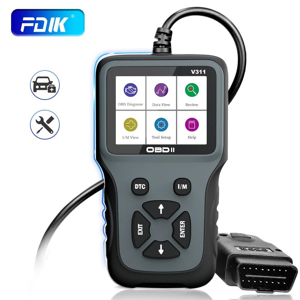 Fdik obd2 scanner v311 leitor de código ferramenta diagnóstico do carro verificação motor luz teste herramientas pk elm327