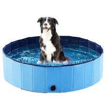 Dropshippig PVC Pieghevole Pet Dog Cat Piscina PVC Lavaggio Stagno Cane Vasca Letto Grande Cane di Piccola Taglia di Nuoto House Bed estate Piscina(China)
