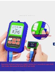 2 em 1 medidor de potência óptica de alta precisão com auto-calibração do verificador da fibra rj45 com 6 comprimentos de onda