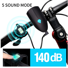 USB Bicycle Bike Bell140db Electric Horn Alarm Bell Light front light Multifunction Waterproof